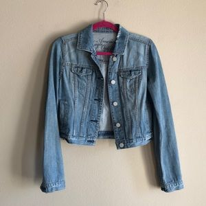 American eagle denim dress jacket size small